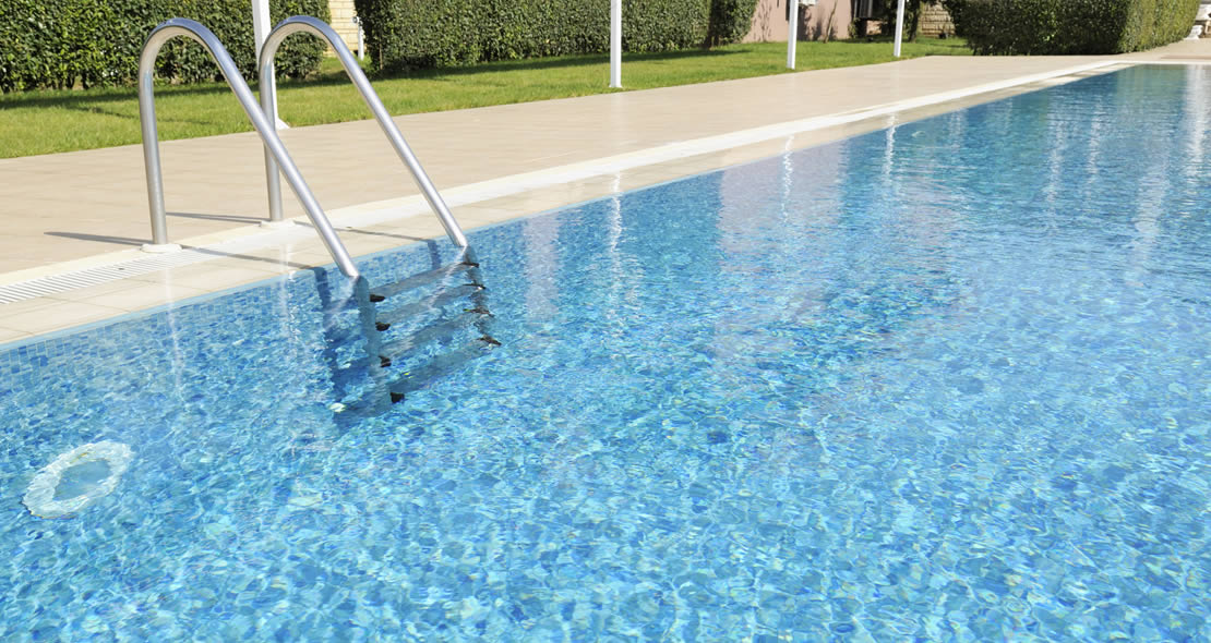 swimming pool heated with waste heat